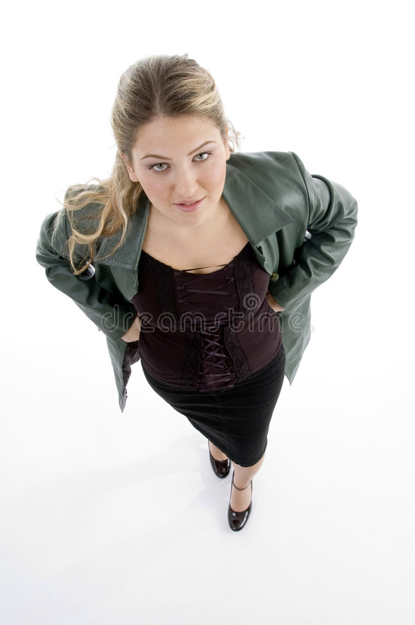 High Angle View Of Standing Model Stock Photo