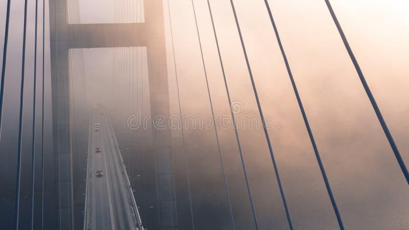 High Angle View Of Suspension Bridge Against Sky Free Public Domain Cc0 Image