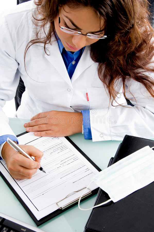 Download High Angle View Of Young Doctor Stock Image - Image: 7526005