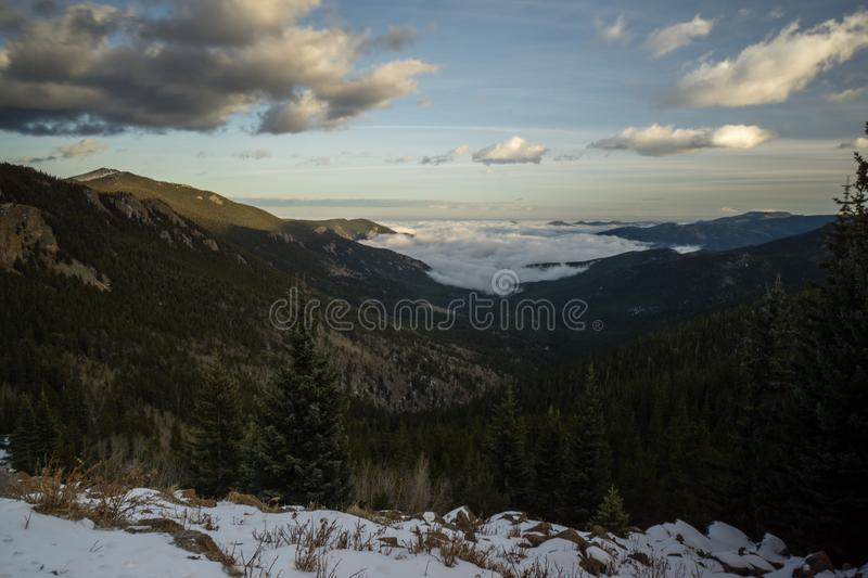Foggy Valley in Colorado royalty free stock photography