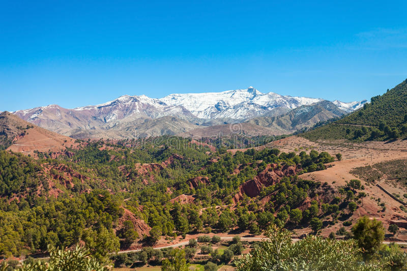 High Atlas Mountains. High Atlas, also called the Grand Atlas Mountains is a mountain range in central Morocco in Northern Africa stock images