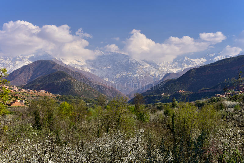 High Atlas Mountains, Morocco. Morocco, High Atlas Mountains, Toubkal National Park royalty free stock photo