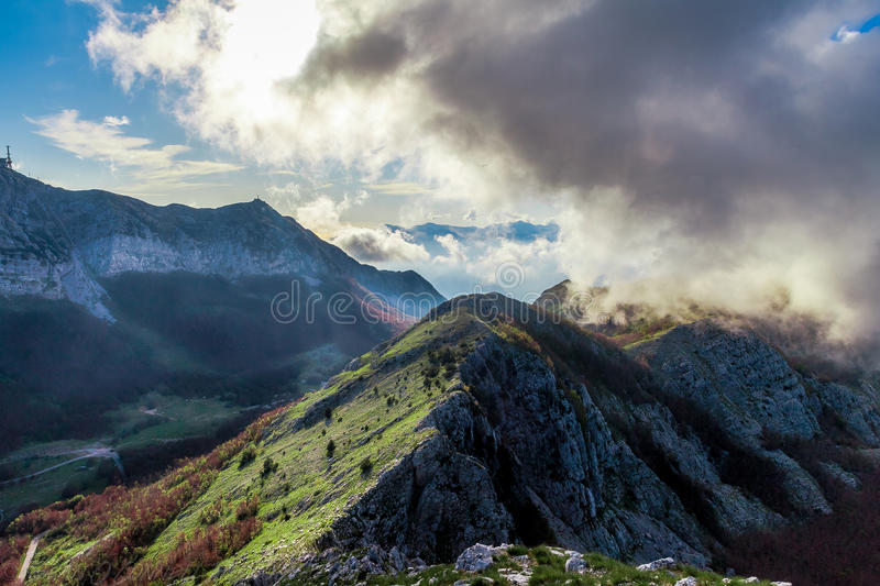 High atop the Lovcen National Park royalty free stock image