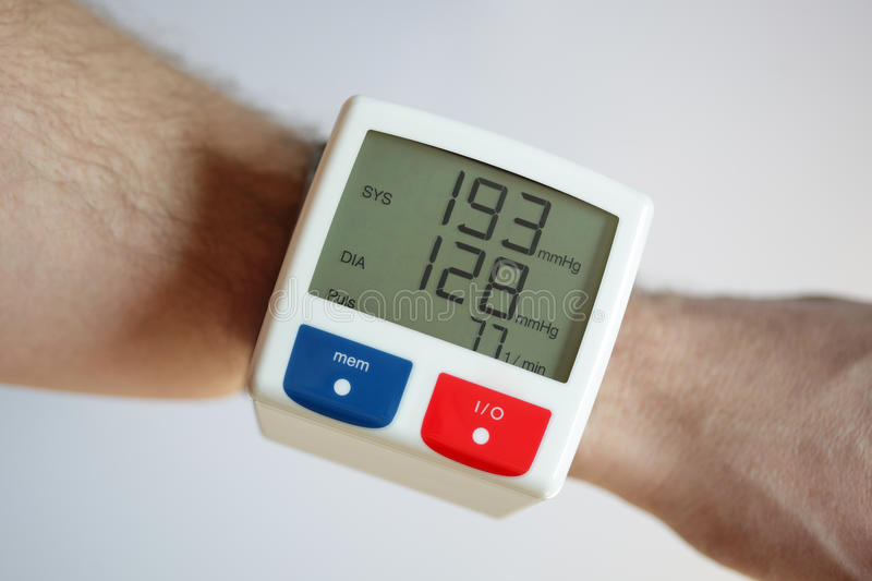 High blood pressure stock photography