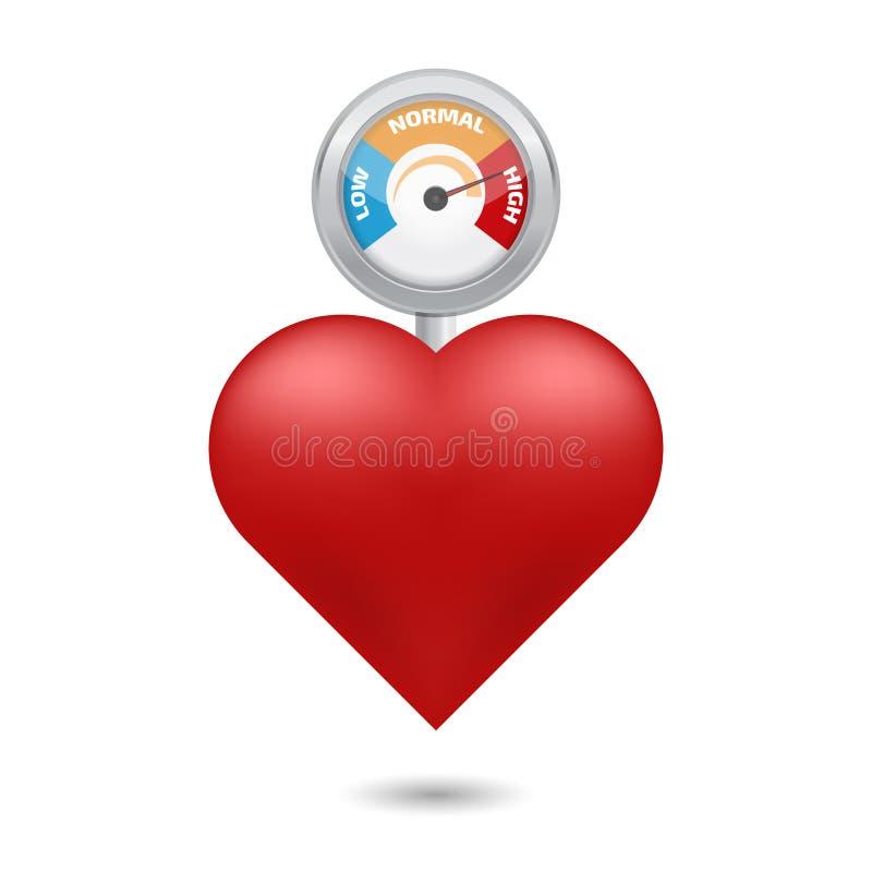 High blood pressure concept. Vector illustration. High blood pressure concept vector royalty free illustration