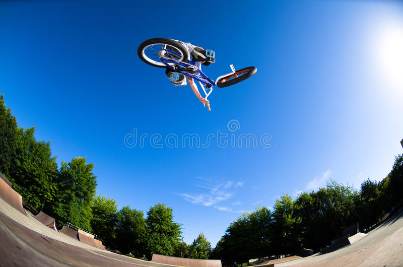 Download High BMX jump stock photo. Image of jump, young, action - 26472234