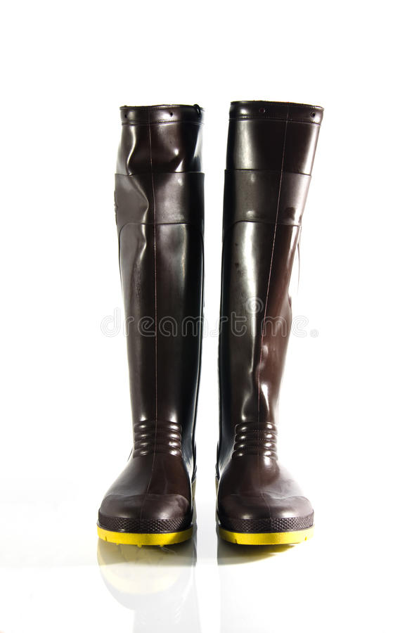 High boots. Isolated on white background stock image