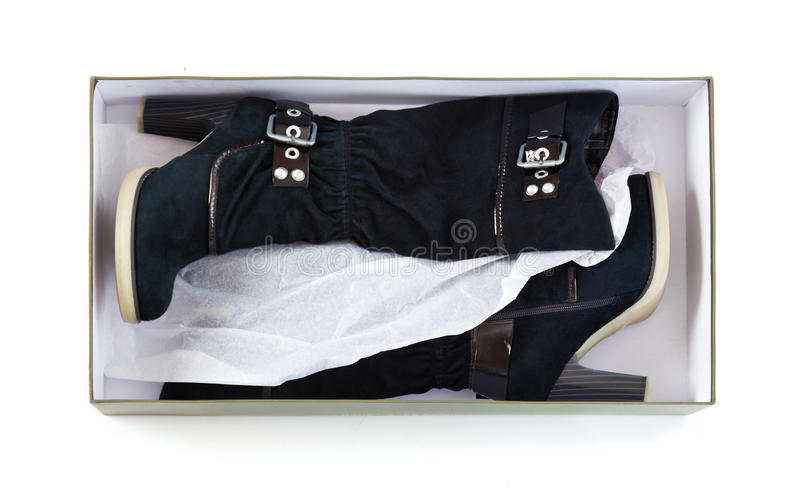 Download High boots in a box stock image. Image of style, studio - 18216855