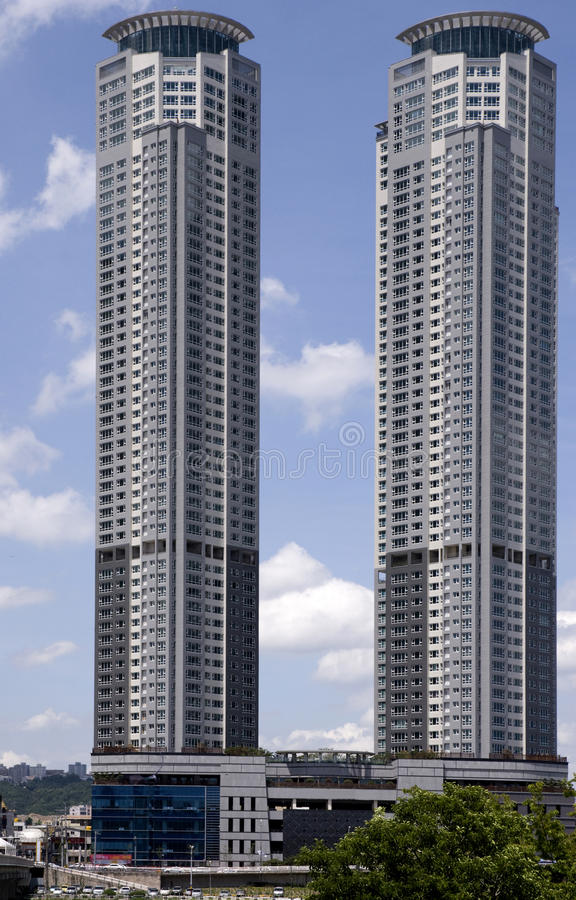 High building . stock images