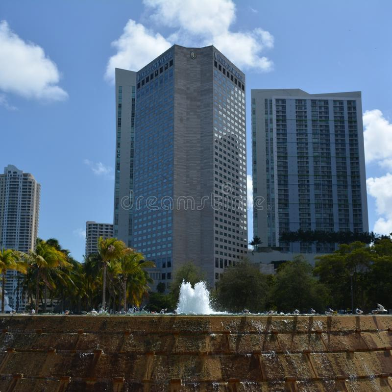 A High Building in Miami city stock photo