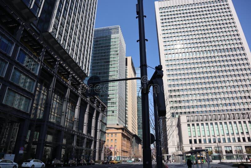 High building in Tokyo city stock photos