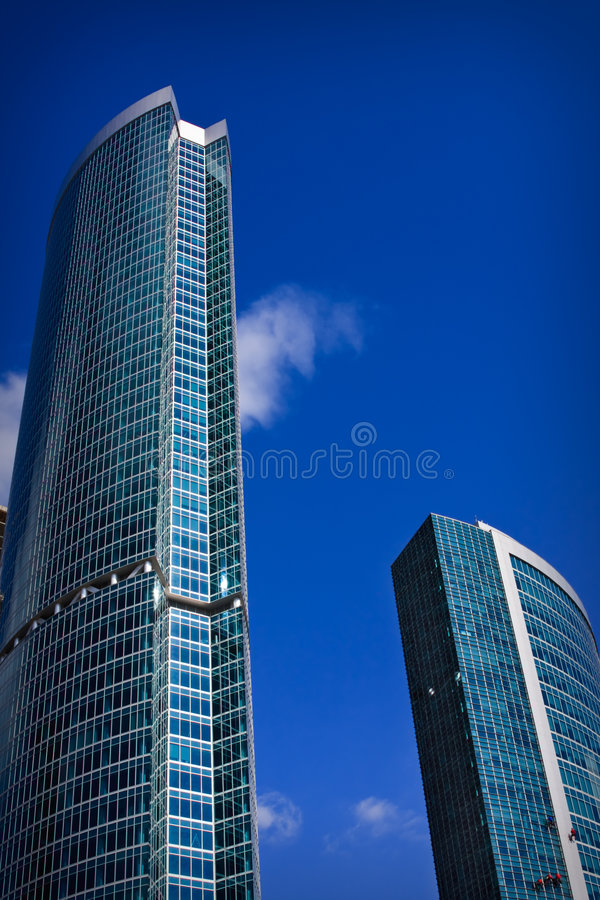 High buildings stock image