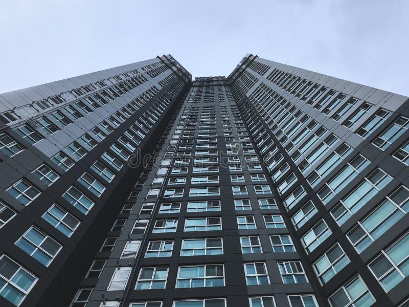 High buildings in Busan city, Bottom view. South Korea royalty free stock photos