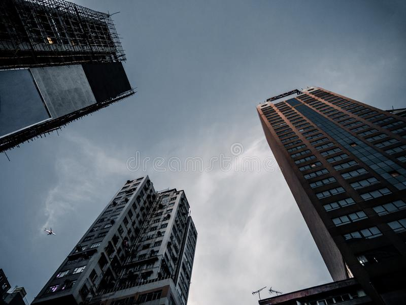 High buildings in Honk Kong stock images