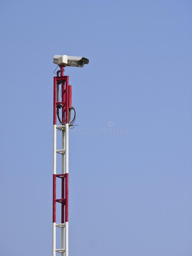 High Camera Pole Royalty Free Stock Photos