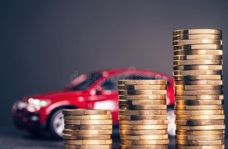 High car costs stock image