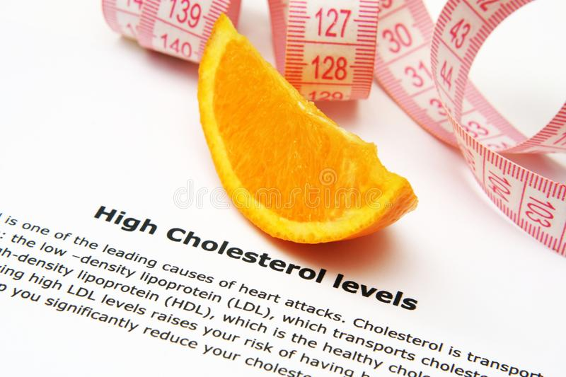 High cholesterol. Close up of High cholesterol concept royalty free stock photography