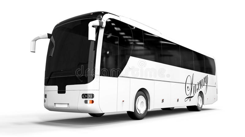 HIGH CLASS Buss. 3D render image representing a HIGH CLASS Buss vector illustration