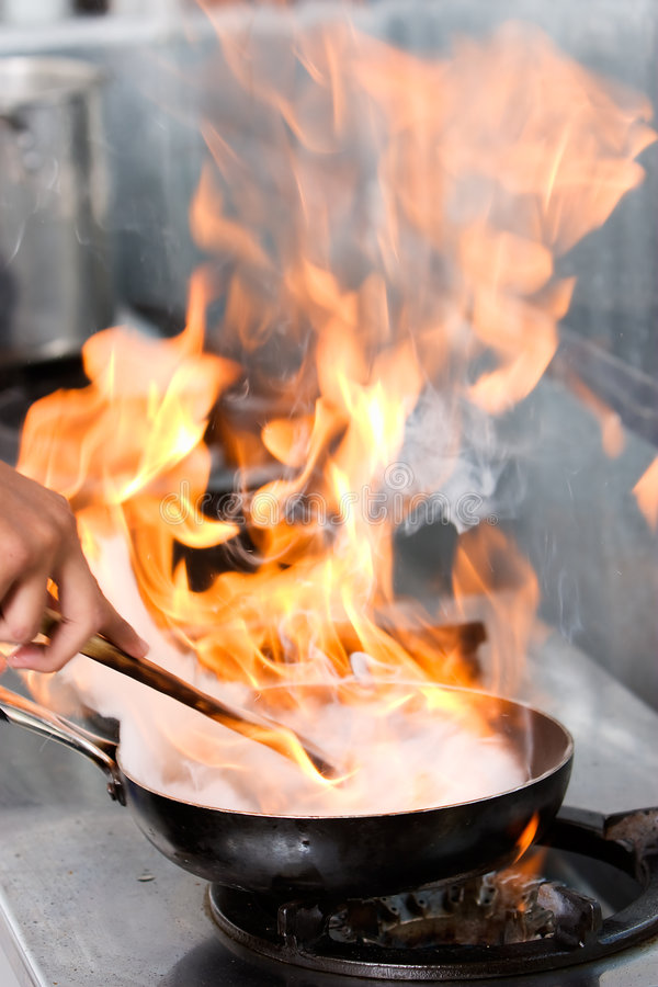 High class cooking technique stock photos