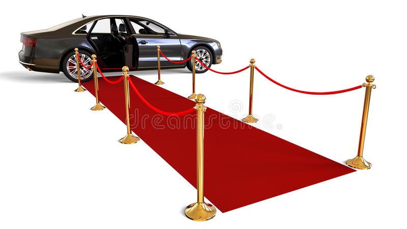 HIGH CLASS LIMOUSINE. 3D render image representing a HIGH CLASS LIMOUSINE royalty free illustration