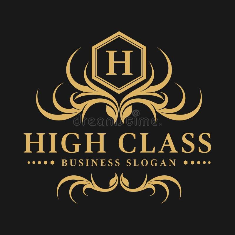High Class - Luxurious Logo. High Class is a luxurious letter H logo stock illustration