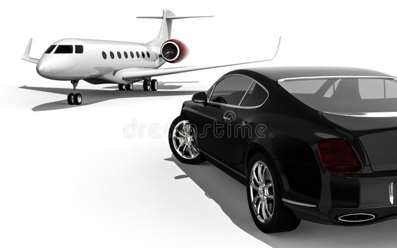 High class transportation. 3D render image representing high class transportation vector illustration