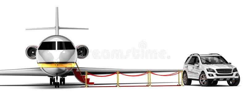 High class travel fleet. 3D render image representing a high class travel fleet vector illustration