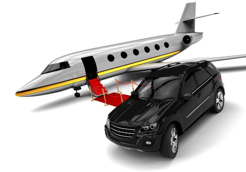 High class travel fleet. 3D render image representing a high class travel fleet royalty free illustration