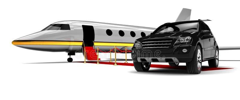 High class travel fleet. 3D render image representing a high class travel fleet stock illustration