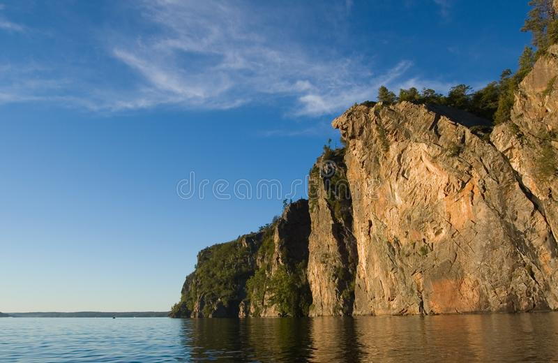 High cliff at shore stock photo