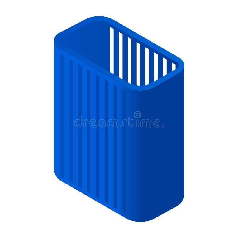 High clothes basket icon, isometric style stock illustration