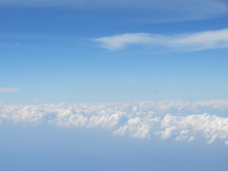 High cloud blue sky royalty free stock image