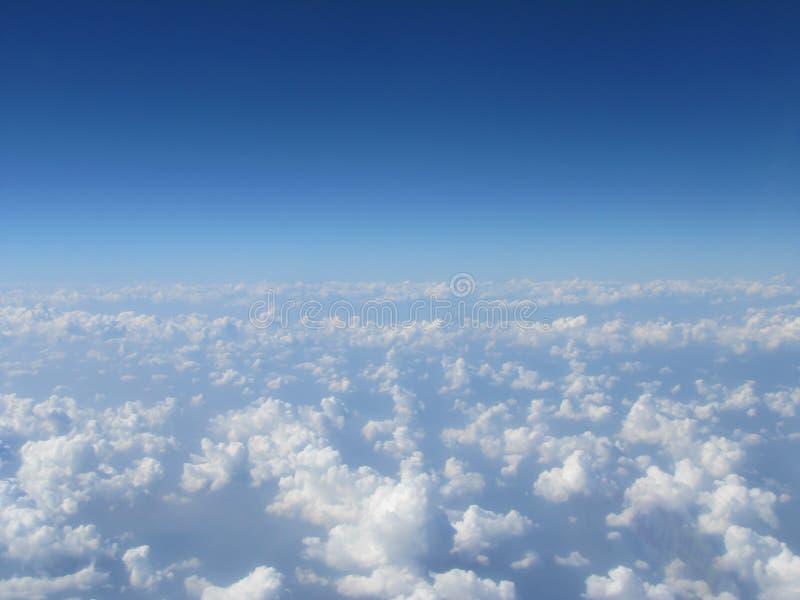 High cloud blue sky stock images