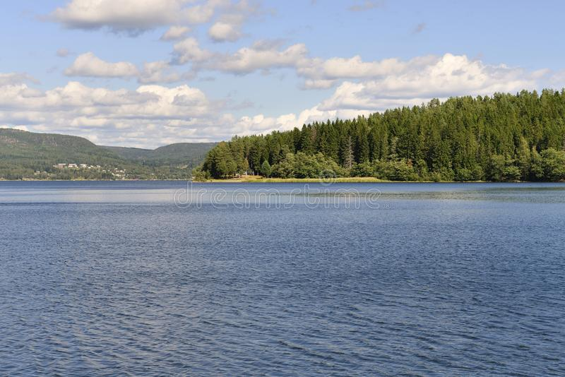 The High Coast (Sweden). Panorama of the high coas (hoga kusten) in summer (Sweden royalty free stock photography