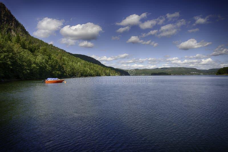 The High Coast (Sweden). Panorama of the high coas (hoga kusten) in summer (Sweden royalty free stock photos