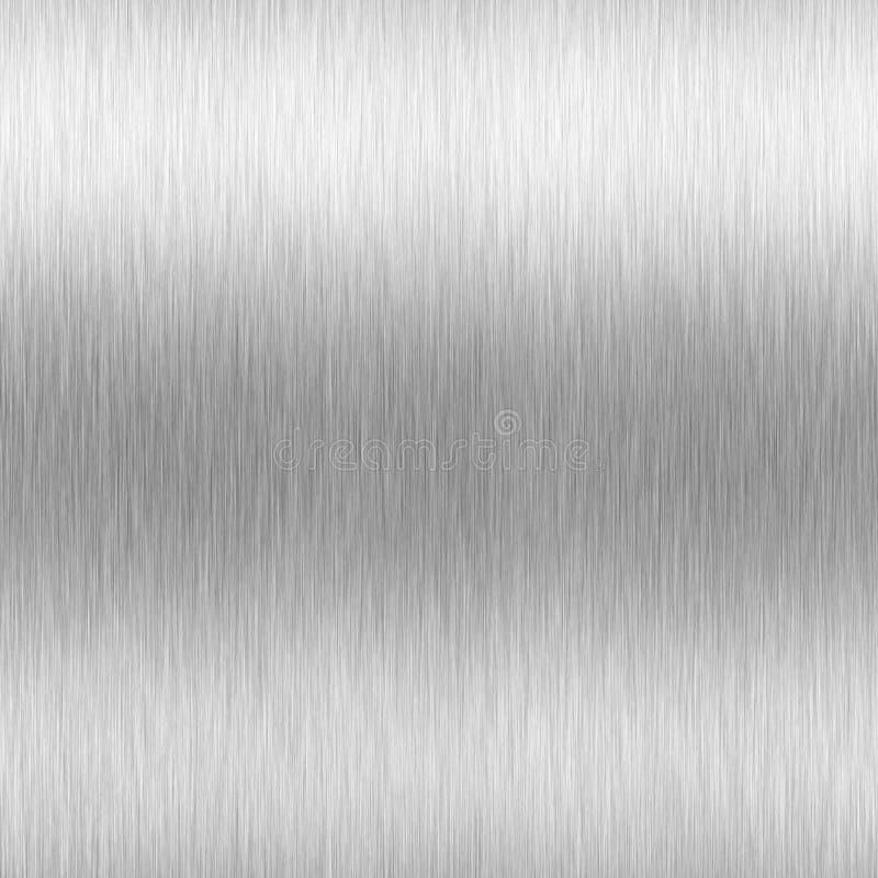 High-Contrast Brushed Aluminum vector illustration