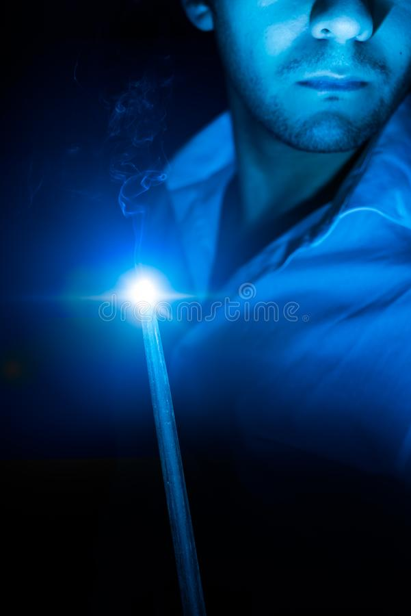 High contrast image of a magic wand stock images