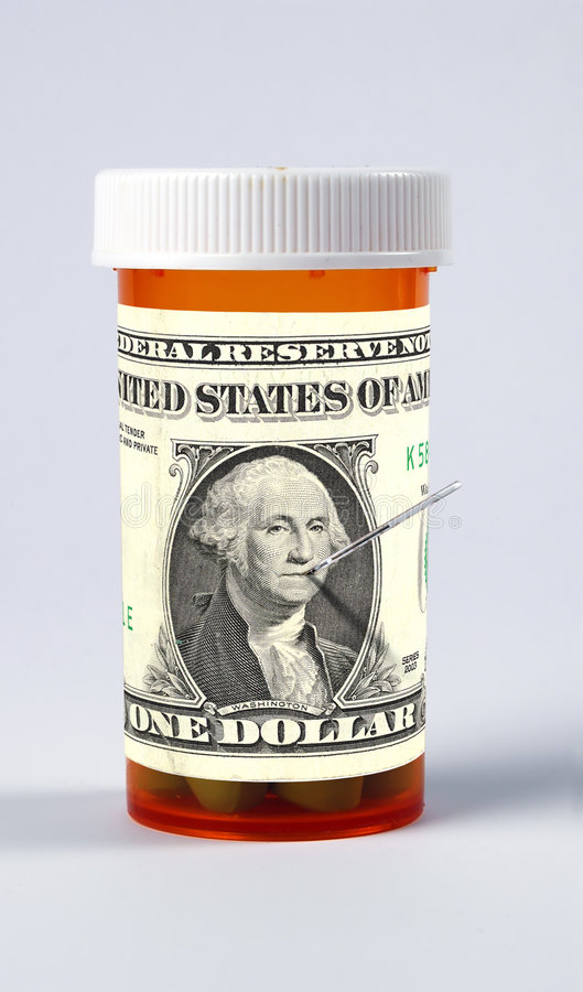 High Cost of Health Care royalty free stock photos
