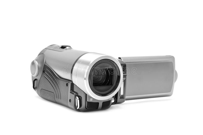High-definition camera. On a white background royalty free stock photography