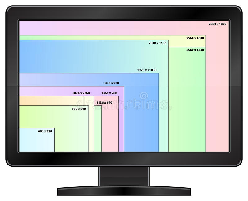 High Definition Display stock photos