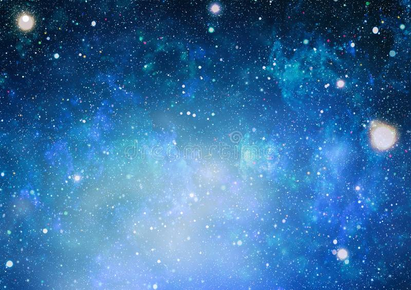 High definition star field background . Starry outer space background texture . Colorful Starry Night Sky Outer Space background. Panoramic looking into deep royalty free illustration