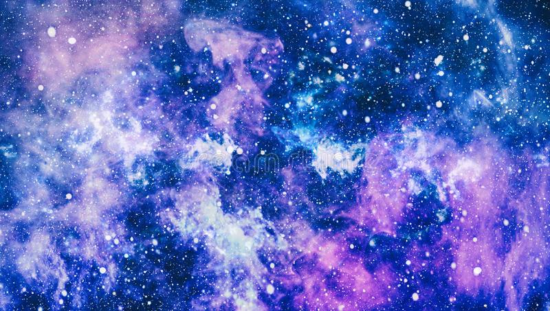 Blue dark night sky with many stars. Milky way on the space background. High definition star field background . Starry outer space background texture . Colorful royalty free illustration