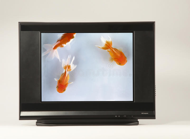 High-definition Television. A High-definition Television with clipping path stock photo