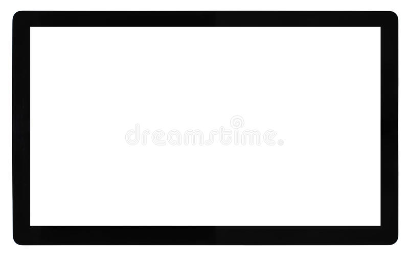 High Definition TV. Isolated on white stock photography