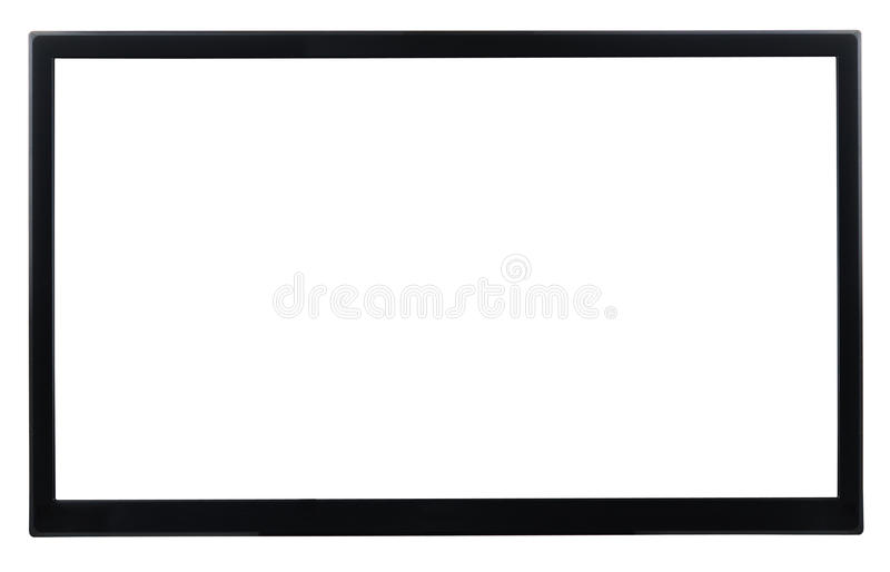 High Definition TV. Isolated on white stock photo