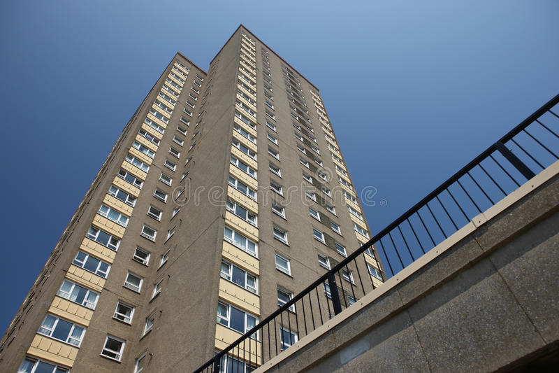 High Density Housing Block stock image