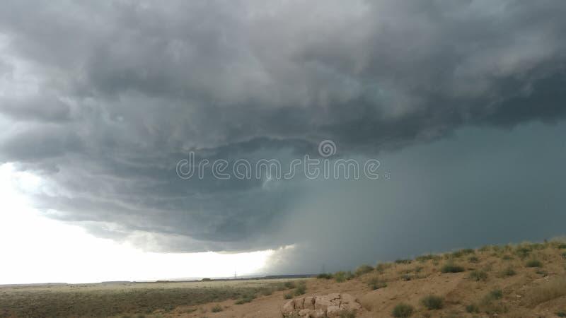 High Desert Storm. Thunderstorm in the desert hell royalty free stock photos