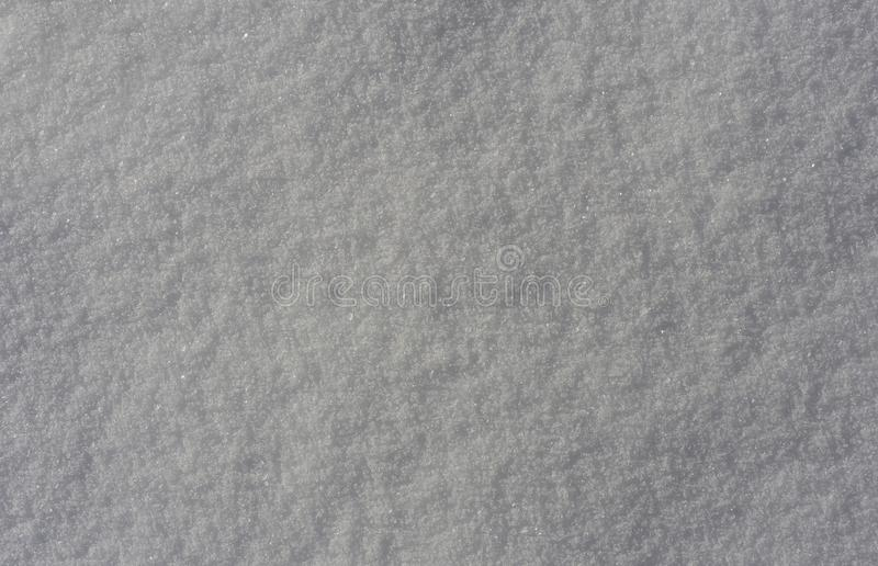 High detail texture of snow. In winter stock images