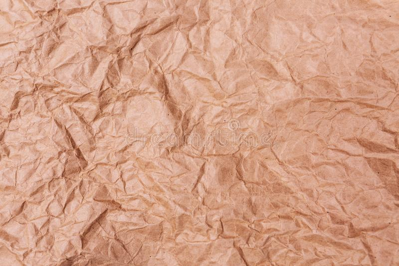 High detailed abstract crumpled packaging paper texture background for your design. stock images