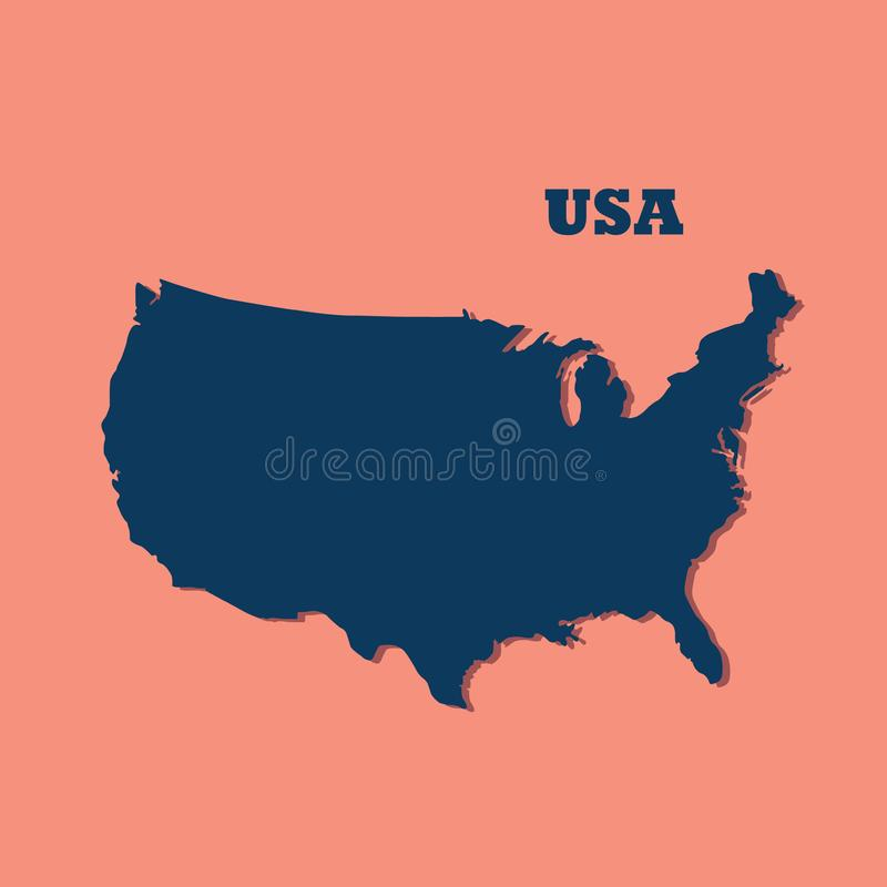 A high detailed colorful United States of America map vector illustration